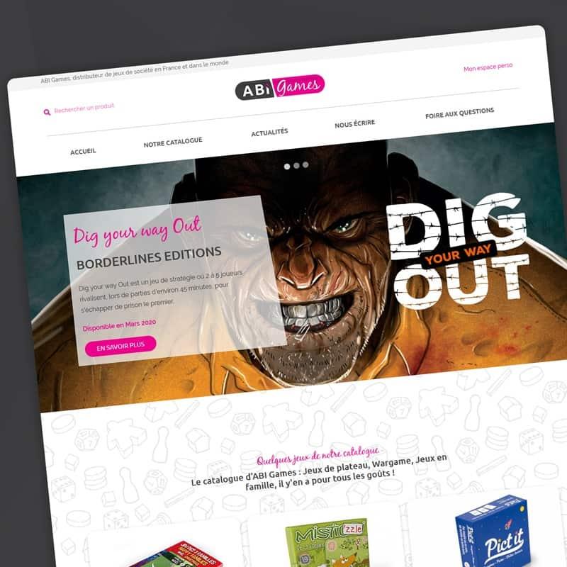 Création d'un site internet Catalogue pour le monde du jeux de société.
