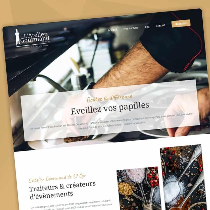 """Création d'un site vitrine pour le traiteur """"Atelier Gourmand""""."""
