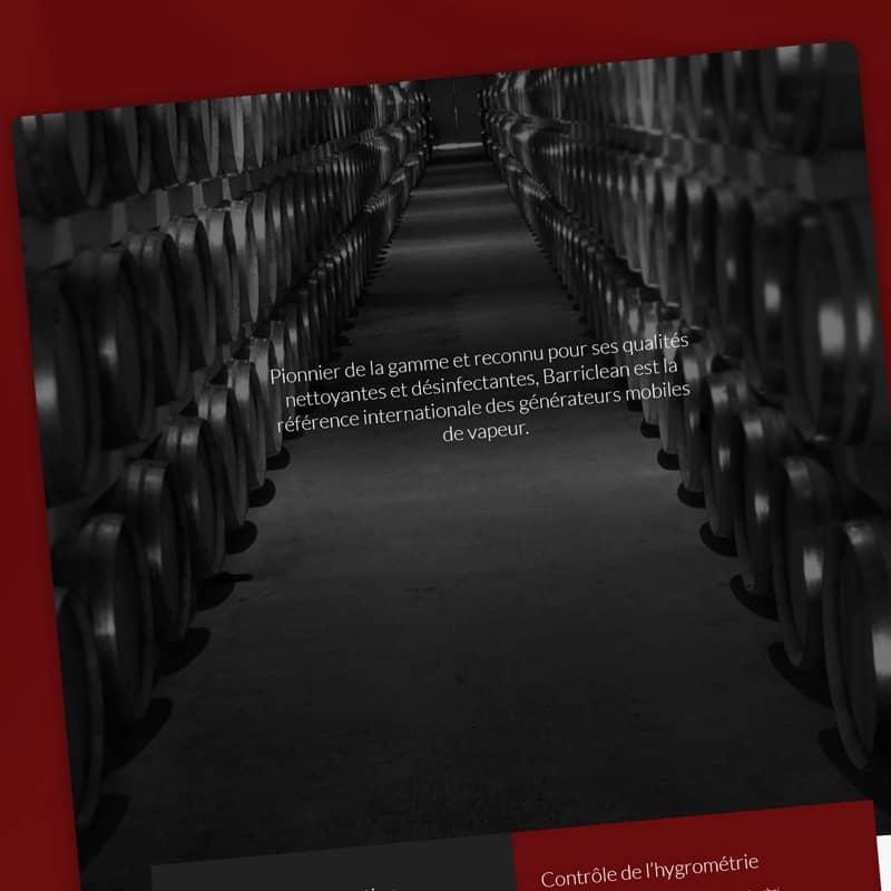 Création d'un site internet catalogue pour l'entreprise Barriclean.